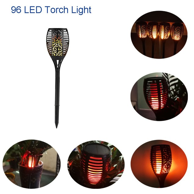 LED Solar Path Torch Light