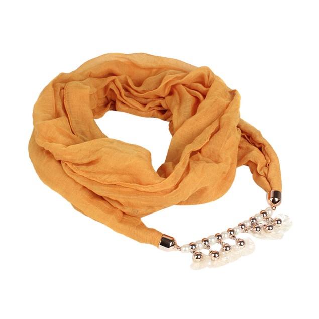 Women Ladies Voile Wrap Double Loop Scarf Wrap