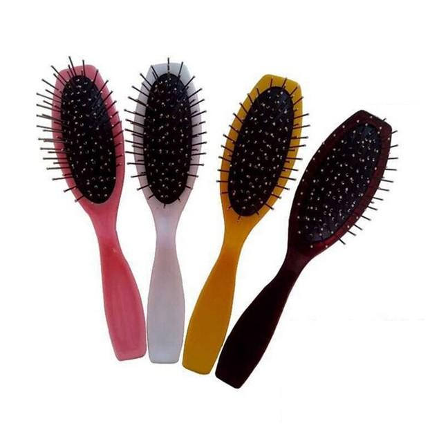 Practical Hair Massage Brush Wig Steel Hairbrush Comb Scalp Massager Kit