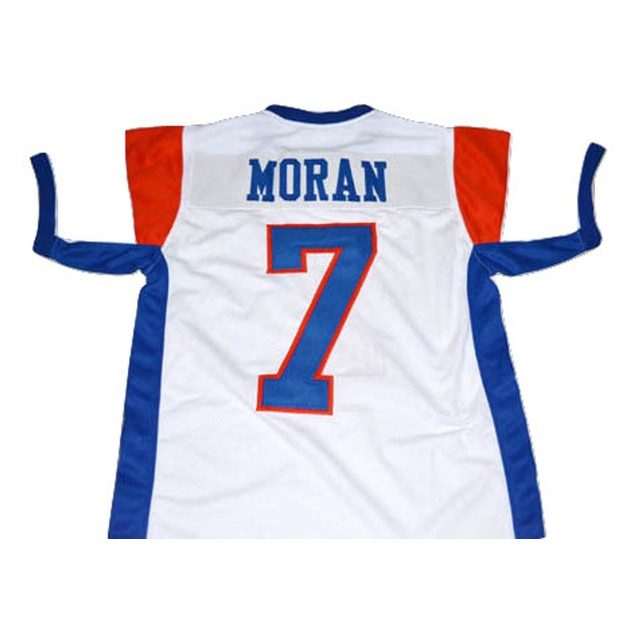 Alex Moran #7 White Football Jersey