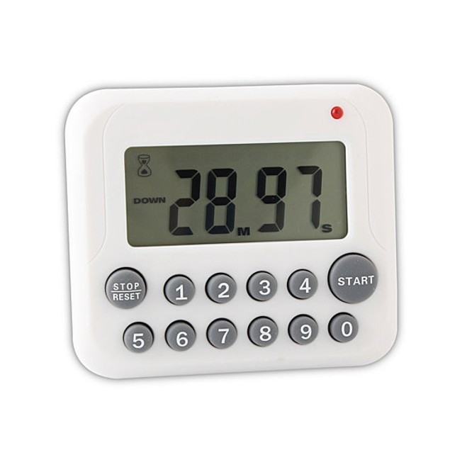 Digital Magnetic Kitchen Timer with Magnet Back and Clip-Comes In 2 Colors