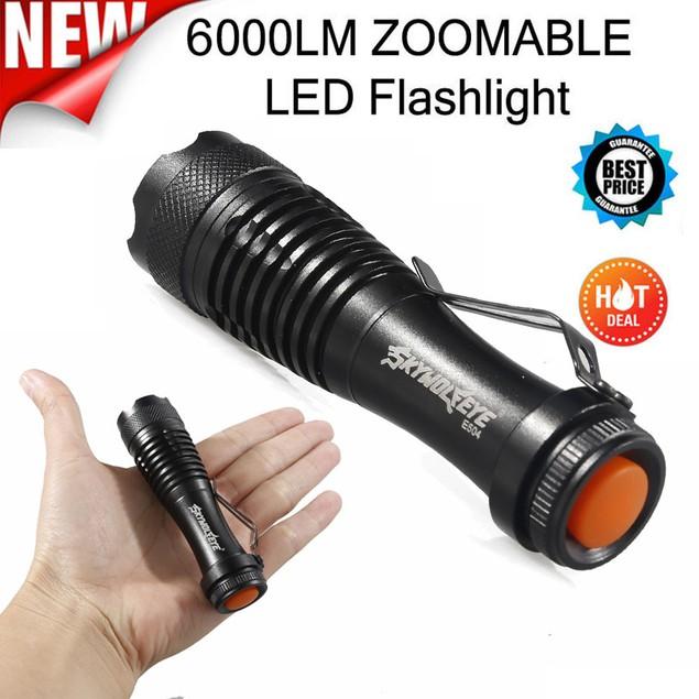 2000LM 3Mode ZOOM LED Super Bright Flashlight MINI Police Torch
