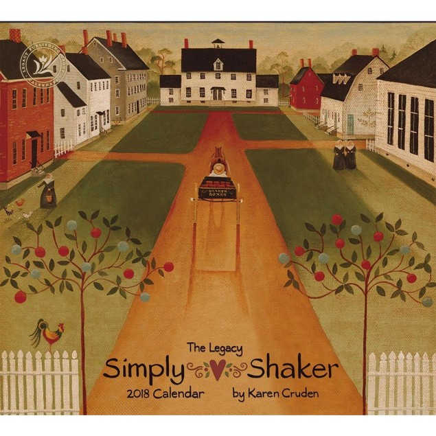 Simply Shaker Wall Calendar, More Folk Art by Legacy Publishing Group