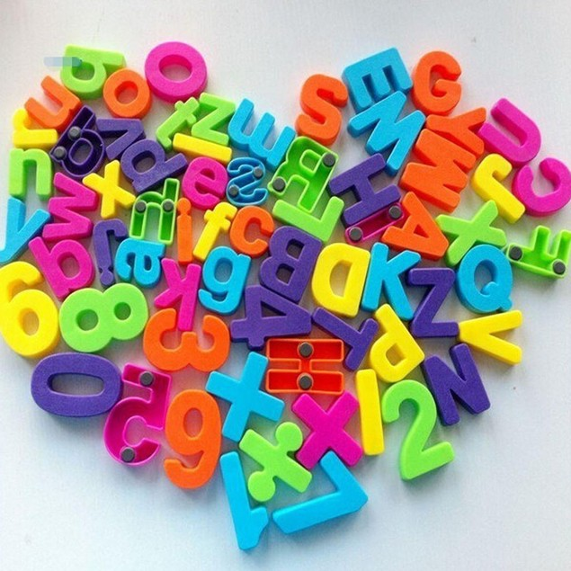 Set Of 26 Colorful Teaching Magnetic Numbers Fridge Magnets Alphabet