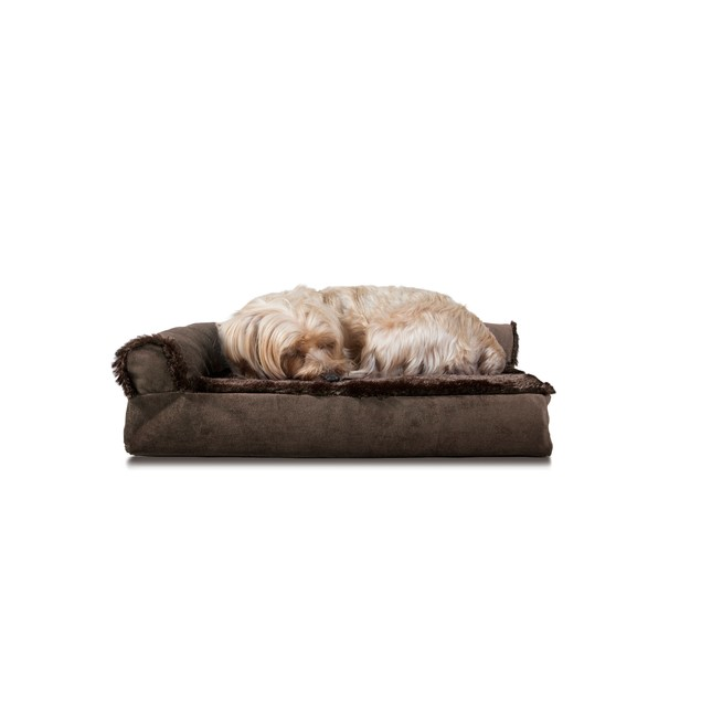 FurHaven Plush & Velvet Deluxe Chaise Lounge Memory Foam Pet Bed
