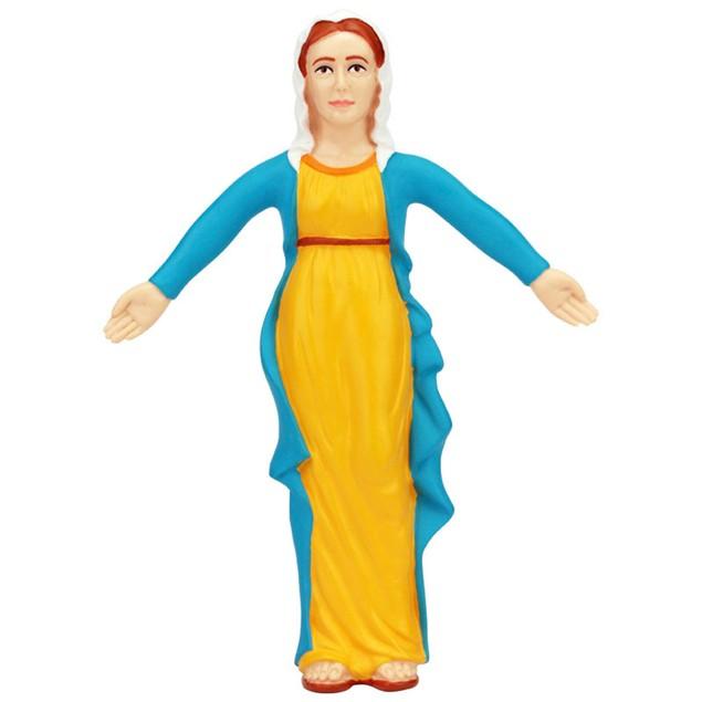 Virgin Mary Bendable Figure Christ Mother Bible Novelty Catholic 5.5 Inch