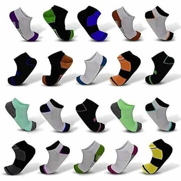 20-Pair Mystery Deal: Men's Elite Moisture Wicking Low-Cut Ankle Socks