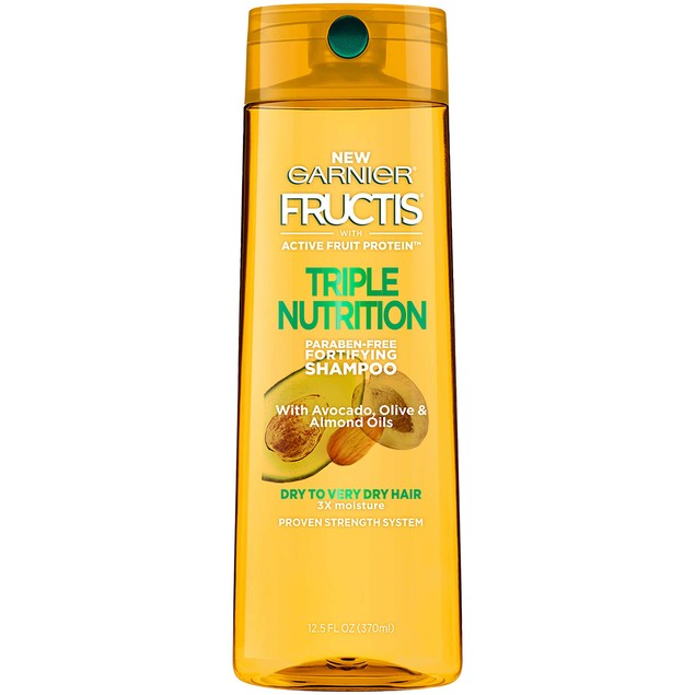 Garnier Fructis Triple Nutrition Shampoo, with Avocado, Olive & Almond Oil