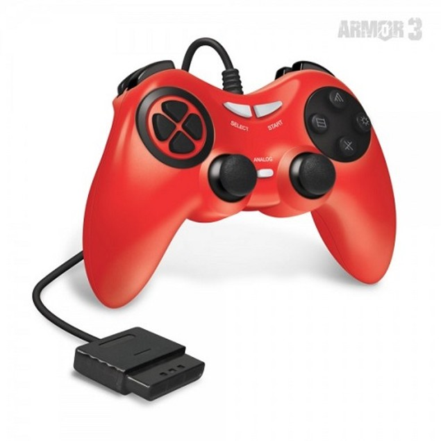 PS2 Wired Game Controller (Red) - Armor3