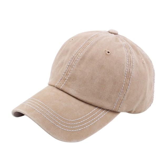 Unisex Vintage Twill Cotton Baseball Cap Vintage Adjustable Dad Hat  b