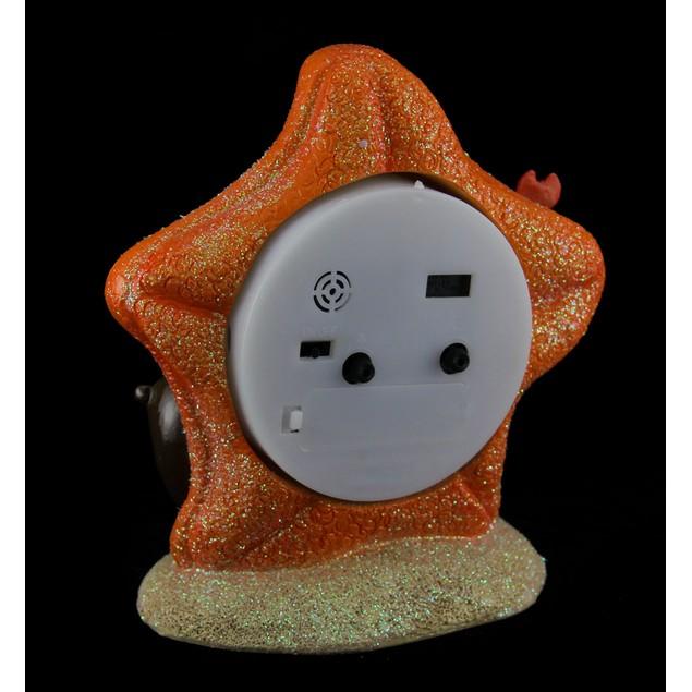 Sea Otter And Glittery Starfish Sea Life Alarm Alarm Clocks