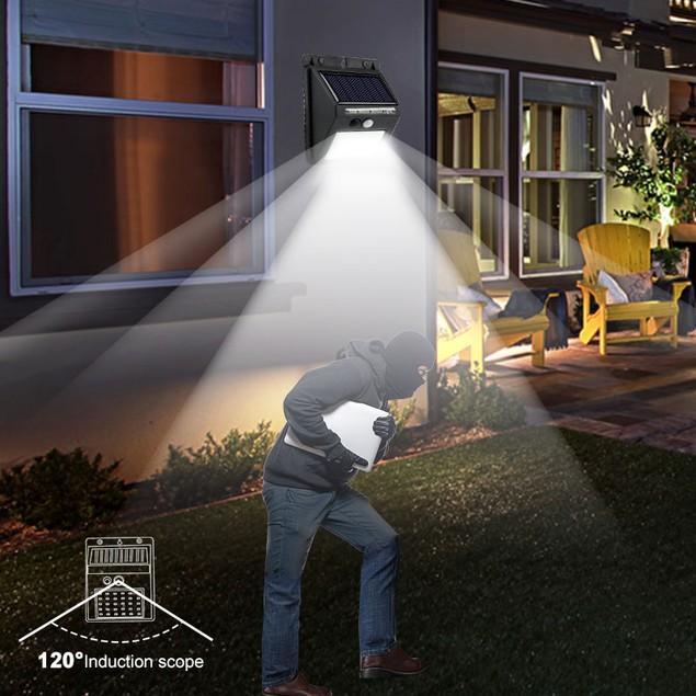 4-Pack 48 COB LED Outdoor Solar Motion Sensor Light