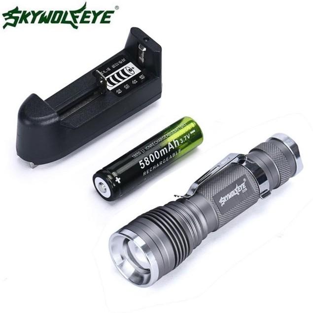 5000Lumen 3 Modes Q5 LED Flashlight Mini Rechargable Torch Light