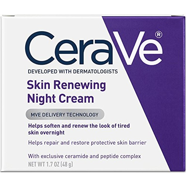 CeraVe Night Cream for Face Skin Renewing with Hyaluronic Acid