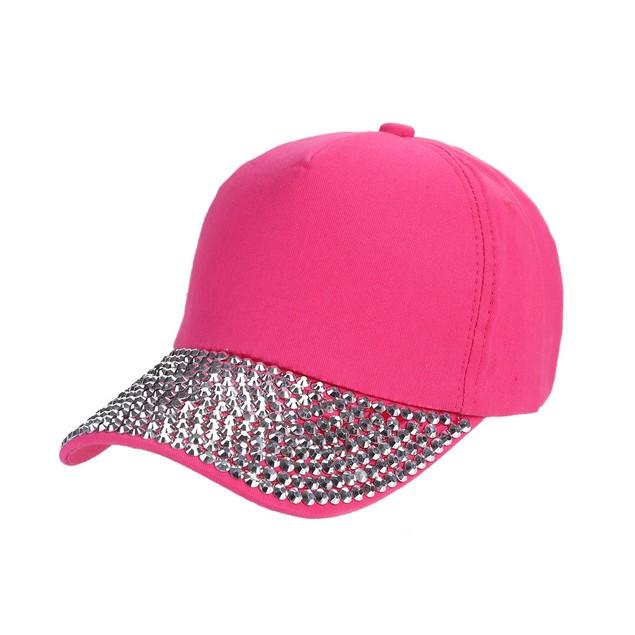 Womens New Baseball Cap Rhinestone Paw Shaped Snapback Hat  w