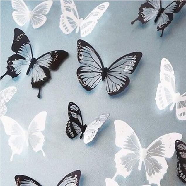Crystal 3D Butterflies- Set of 18