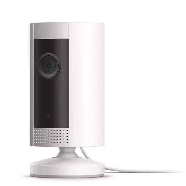 Ring Indoor HD security camera with two-way talk, Works with Alexa - White