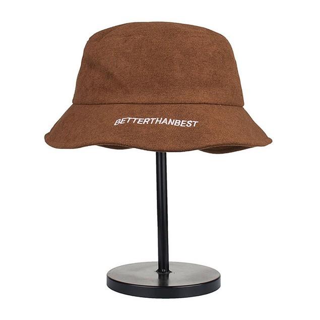 Women Men Embroidery Cotton Plain Short Eaves  Fisherman Hat Basin cap E