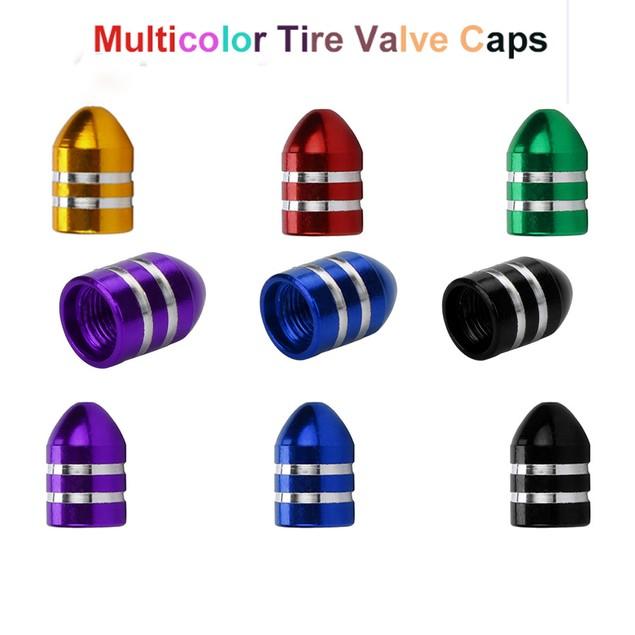 4-Pack Aluminum Bullet Car Air Port Cover Tire Rim Valve Wheel Stem Caps g