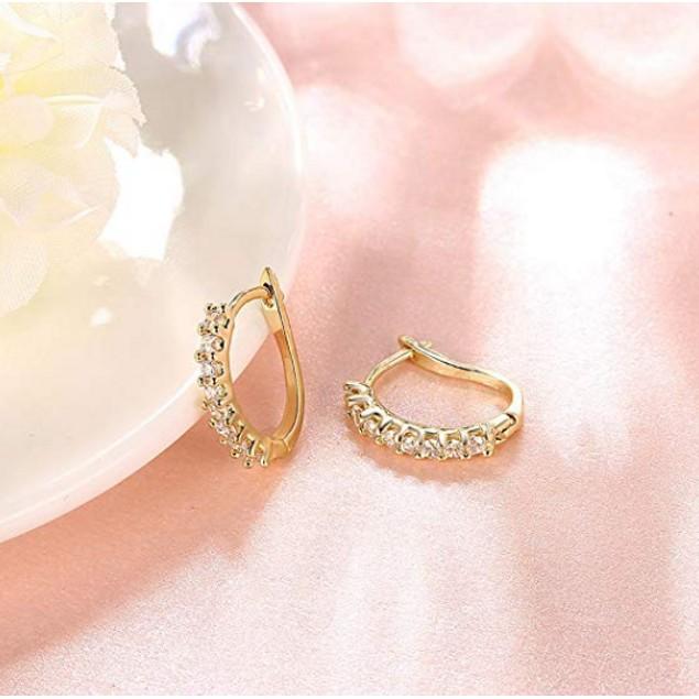 Crystal Petite Huggie Earrings