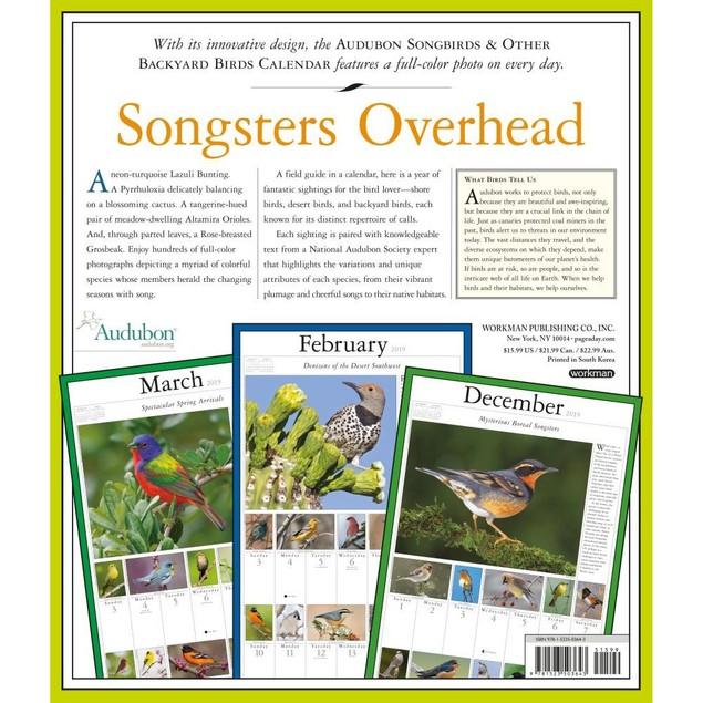 365 Audubon Songbirds Wall Calendar, Birds by Calendars