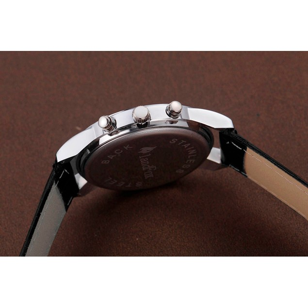 Luxury Fashion Crocodile Faux Leather Mens Analog Watch Watches