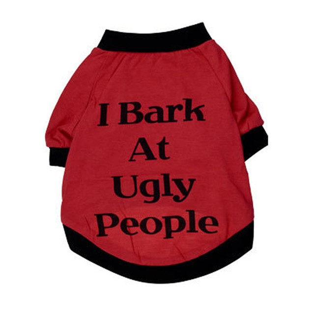 I Bark at Ugly People Dog Sweater