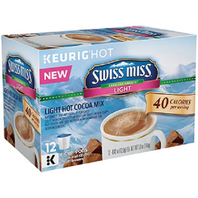 Swiss Miss Light Hot Cocoa Mix Keurig K-Cups