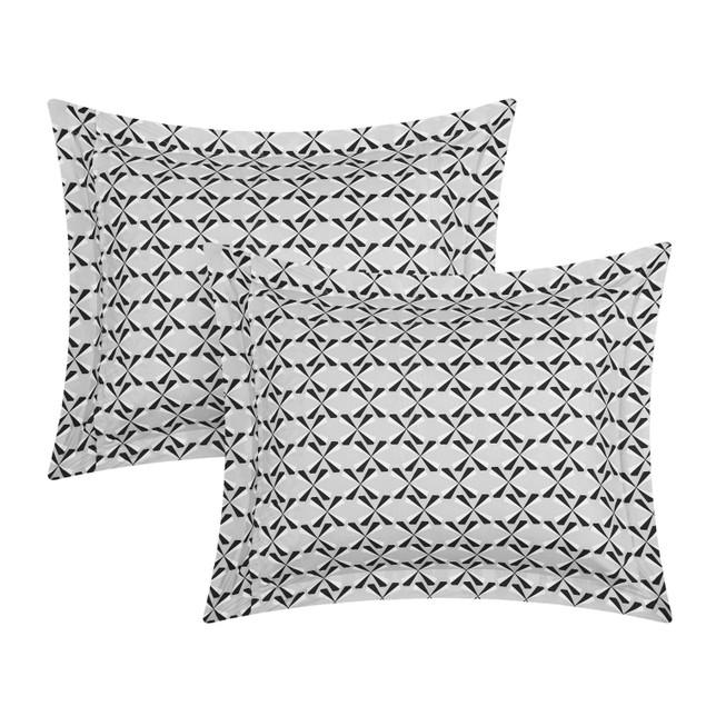 Chic Home 3/4 Piece Burbank Ikat Diamond Pattern Reversible Duvet Cover Set