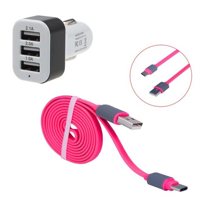 Quick Charge Type C USB 3 Ports Car Charger