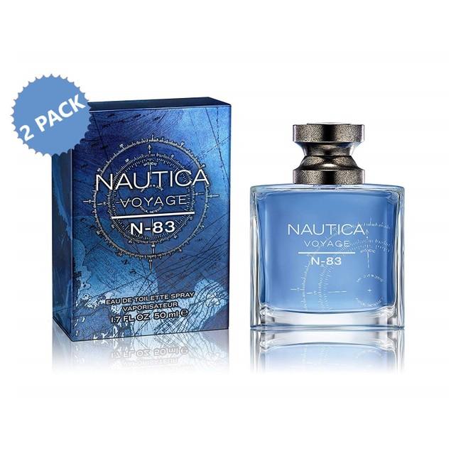 2-PACK Nautica N-83 Voyage EDT, Cologne for Men, 1.7 oz. ea (3.4 oz.)