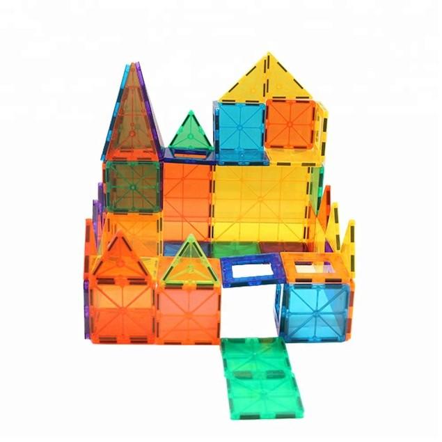 Zunammy Kids Magnetic Building Blocks Tile Set (39-Piece)