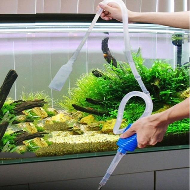 1.7m Siphon Gravel Cleaner Fish Tank Vacuum Water Change Pump Tool