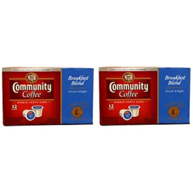 Community Coffee Breakfast Blend Coffee Keurig K Cup 2 Box Pack