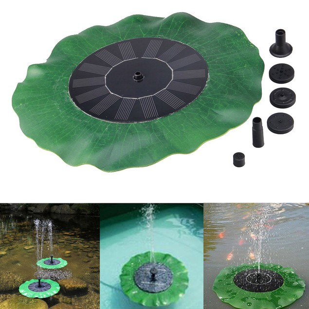 Floating Bath Solar Power Fountain Garden Water Panel Pump Kit Pool Pond
