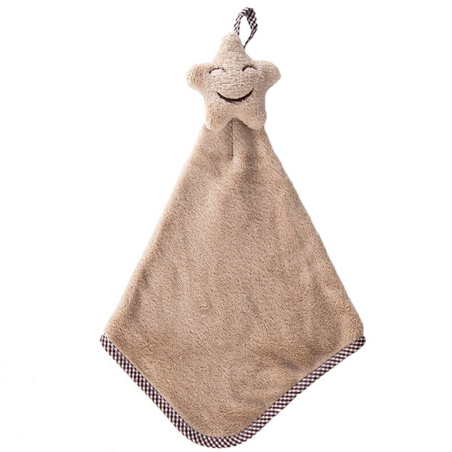 Quick-drying Smiling Face Hanging Hand Towels Kitchen Towel