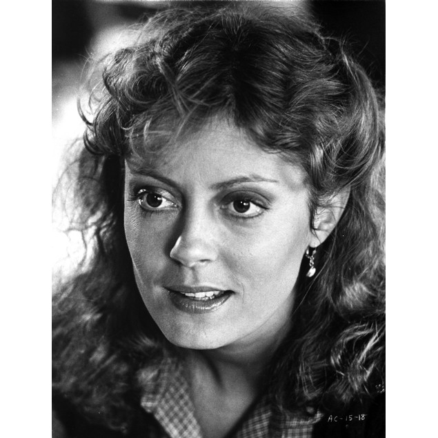 Susan Sarandon wearing a Printed Polo with Curly Hair Poster