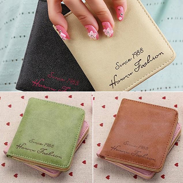 Women Cute Faux Leather Wallet Coin Purse