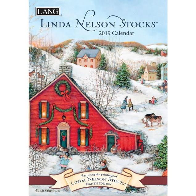 Linda Nelson Stocks Monthly Planner, Lang Folk Art by Calendars