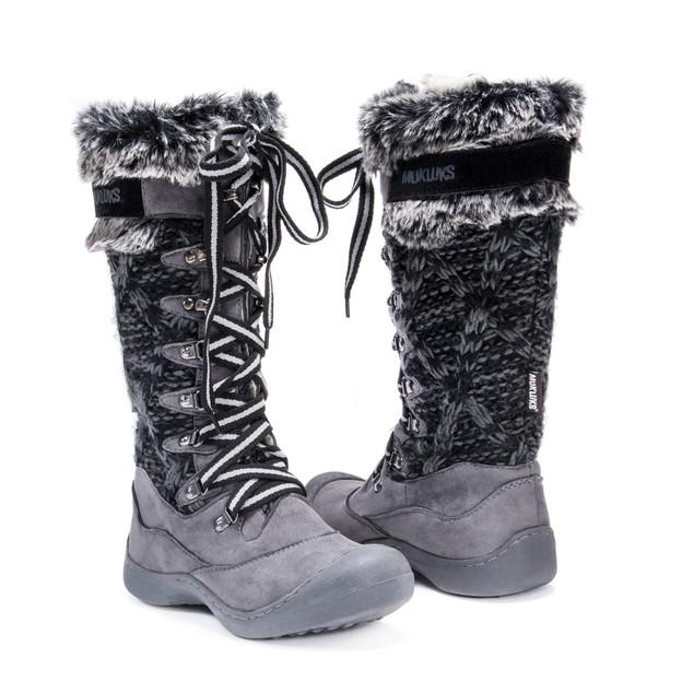 Muk Luks Women's Gwen Tall Lace Up Snow Boot