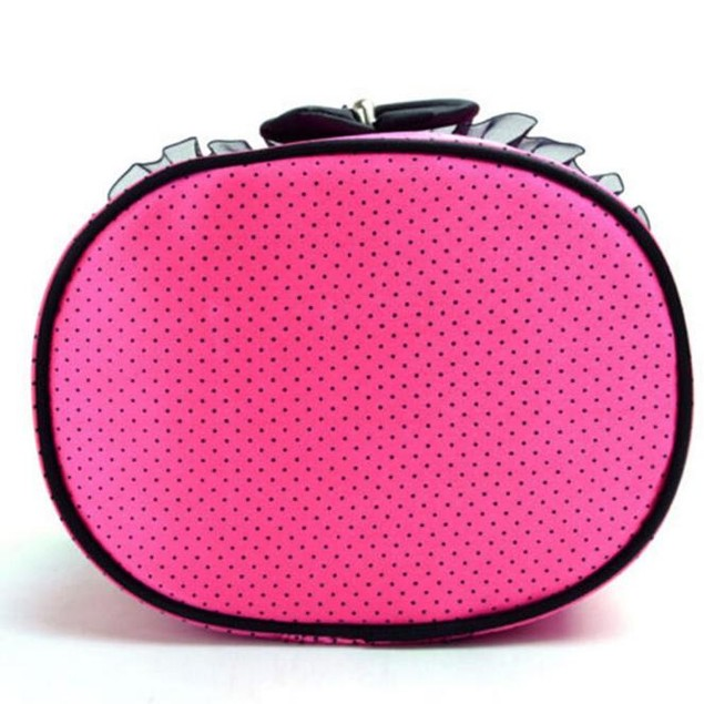 Polka Dot Travel Toiletry Case with Bow - 2 Colors