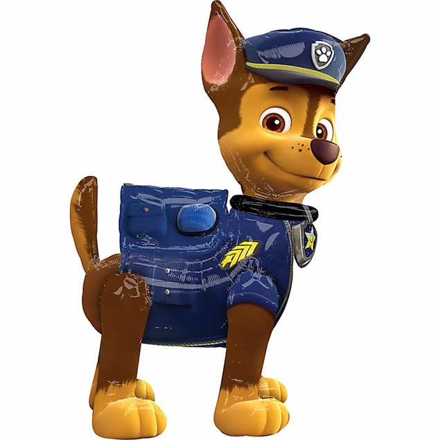 Paw Patrol Chase Air walker Foil Balloon Birthday Party Decoration