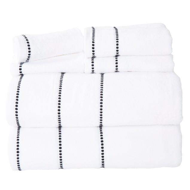 Lavish Home Quick Dry 100% Cotton Zero Twist 6 Piece Towel Set