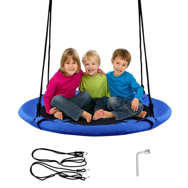 Goplus 40'' Flying Saucer Tree Swing Indoor Outdoor Play Set Kids Christmas