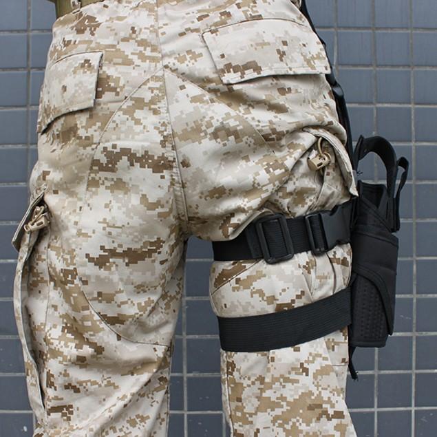 TACTICAL ARMY BLACK PISTOL/GUN DROP LEG THIGH HOLSTER