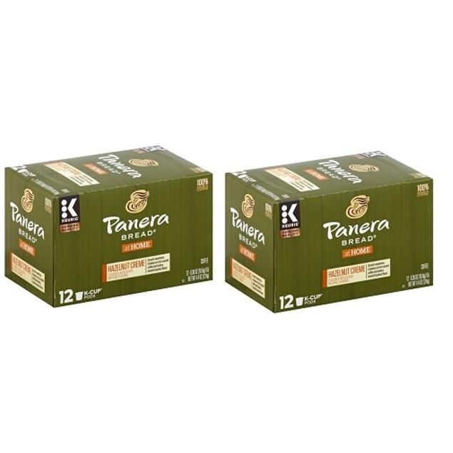 Panera Bread Coffee Hazelnut Creme Keurig K Cup 2 Box Pack