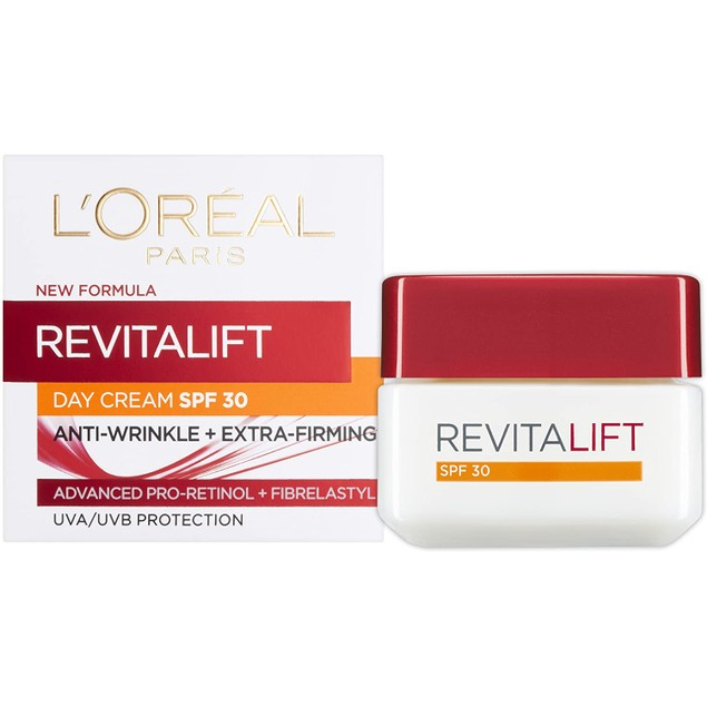 L'Oreal Revitalift Hydrating SPF 30 Cream, Anti-Wrinkle and Extra Firming