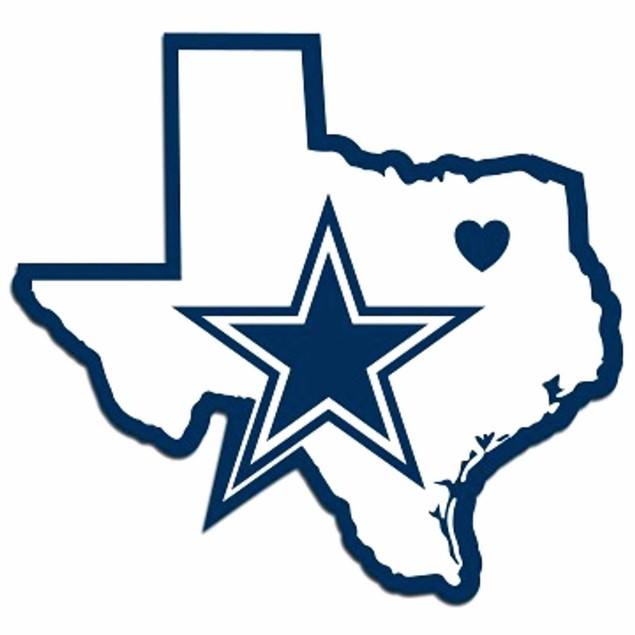 Dallas Cowboys Home State Vinyl Decal