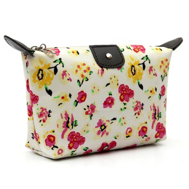 Women Travel Make Up Cosmetic Pouch Bag Clutch Handbag Casual Purse