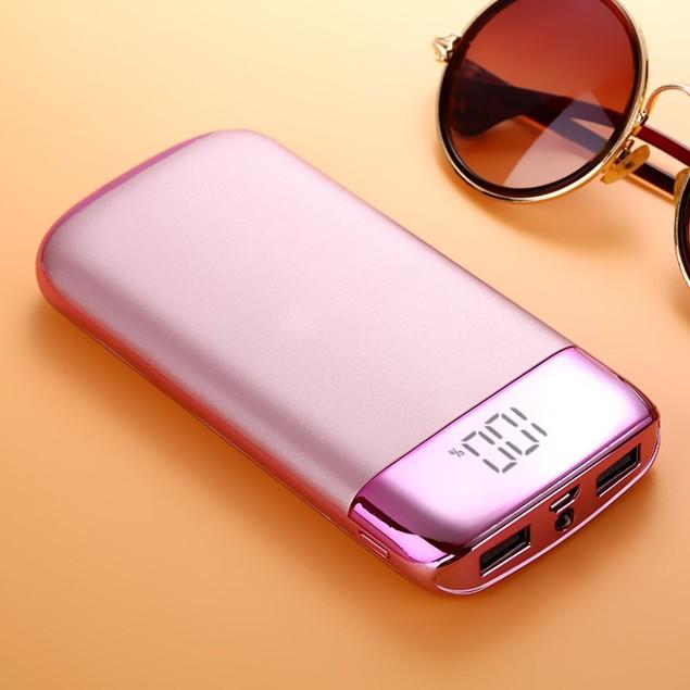 Wireless Qi 10,000 mAh Power Bank with Dual USB Charging Ports